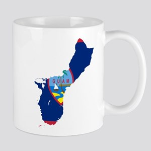 Guam Flag and Map Mug